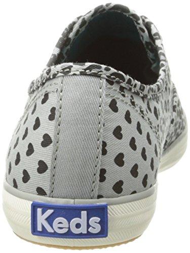 Keds-dames Kampioen Leopard Heart Fashion Sneaker Grijs 7 M Us