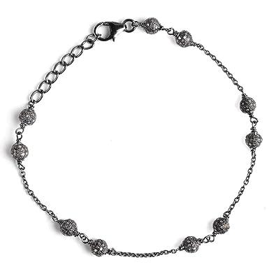 b18b76842e8 Sterling Silver Bracelet For Women   April Birthstone Bracelet   229.4  Carat White Diamond Engagement Bracelet