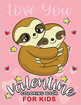Valentine Coloring Books for Kids: Cute Animals Coloring ...