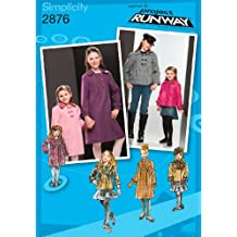 Simplicity Sewing Pattern 2876 Child/Girl Jackets and Coats, K5 (7-8-10-12-14)