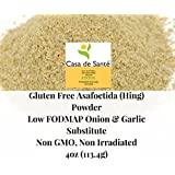 Casa de Sante Gluten Free Organic Asafoetida/Asafetida (Hing) powder - Low FODMAP Onion and Garlic Substitute, Non GMO, Non Irradiated, 4oz