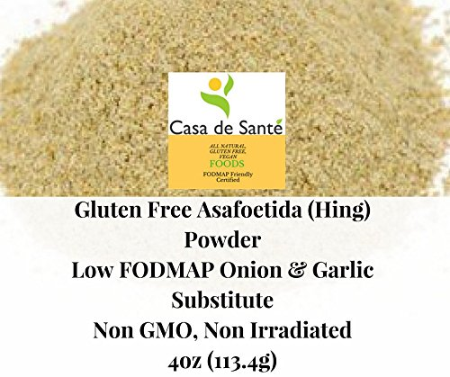 Casa de Sante Gluten Free ORGANIC Asafoetida/Asafetida (Hing) powder - Low FODMAP Onion and Garlic Substitute, Non GMO, Non Irradiated, 4oz -