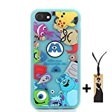 CASESOPHY 3D Cartoon Monsters Case for Apple iPhone 7 iPhone7 iPhone8 Regular Size 4.7' Screen Soft Silicone Rubberized Material Gift for Boys Kids Teens Girls Cute Protective