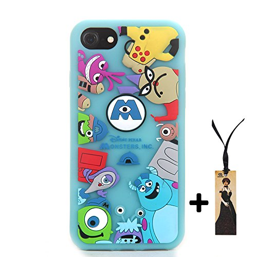 CASESOPHY 3D Cartoon Monsters Case for Apple iPhone 7 iPhone7 iPhone8 Regular Size 4.7