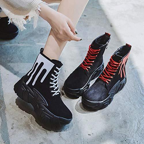 Donna Sneakers White Stivaletti In Hy Dal Da All Scarpe Camoscio Comfort Slip 39 Casual Spesso White Fondo Dimensione Black winter on Stivaletti colore And tqCwtEg