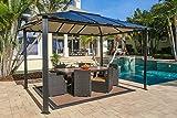 Paragon-Outdoor GZ3584 Backyard Structure Hardtop Durham Gazebo, 10' x 13', Black