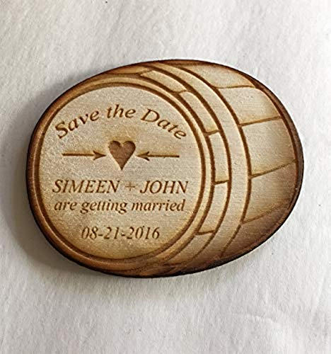 15 Barrel Save the Date Magnets - Wedding