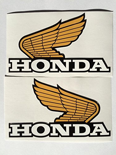 Gold honda sticker
