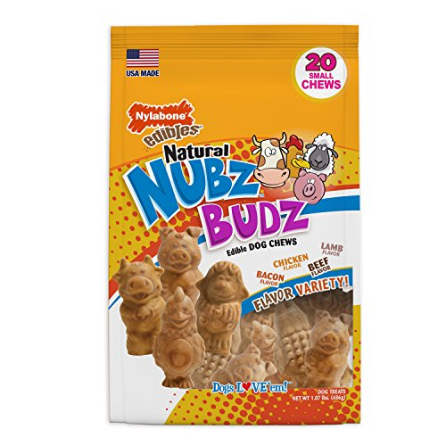 Nylabone Nubz Budz Natural Dog Chew Treats For Small Dogs, 20 Count Review