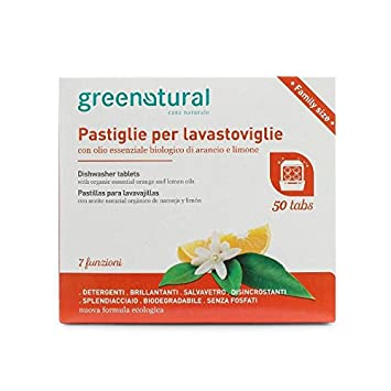 GREENATURAL - Pastillas para Lavavajillas - Platos Brillantes ...