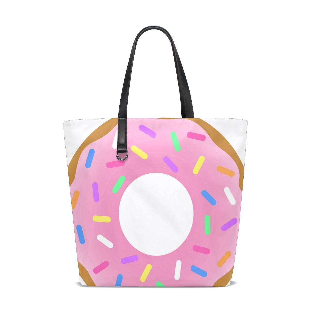 Amazon.com : Donut Art Tote Bag Purse Handbag Womens Gym ...