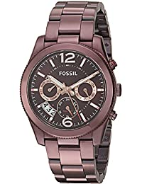 Fossil Women's ES4110 Perfect Boyfriend Sport Multifunction Wine Stainless Steel Watch