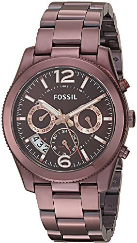 Fossil Women's ES4110 Perfect Boyfriend Sport Multifunction Wine Stainless Steel (Fossil Multifunction Watch)