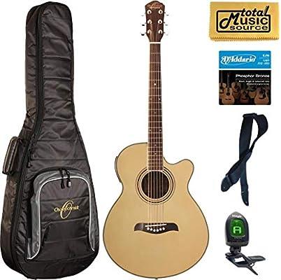 Oscar Schmidt og10ce concert-size Cutaway Guitarra Electroacústica ...