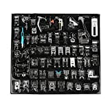 62PCS Sewing Machine Press Foot - Household Multifunctional Sewing Machine Parts Press Foot Sew Machine Accessories Kit Set for Brother, Babylock, Singer, Janome, Elna