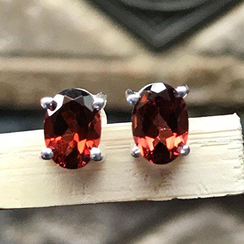 Rhodolite Cut Earrings ()