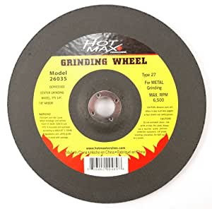 Hot Max 26035 9 Inch Hubless Grinding Wheel 1 4 Inch
