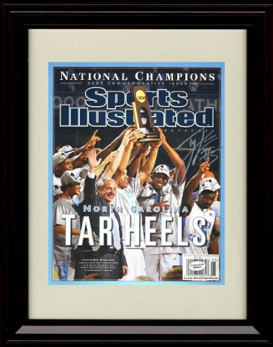 Framed 2009 North Carolina Sports Illustrated Autograph Replica Print - NCAA Champs!