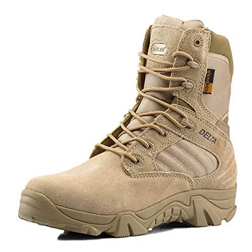 Combat Boots Desert Leggero Yellow Tattici Warm sotto da Caviglia Antiscivolo Top High Traspirante Uomo Stivali Sand Stivali Armatura Wear 1Hq4w0SPP