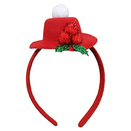 6b80e7ee903 Amazon.com  Tinksky 2pcs Top Hat Headband for Christmas Party Decoration  Christmas Costume Hair Accessories party favors  Toys   Games