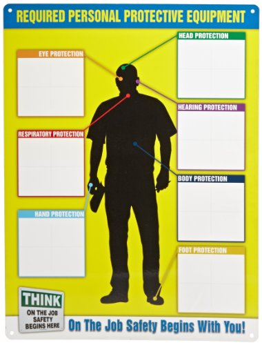 Accuform Signs, PPE357, Personal Protective Equipment Chart ONLY