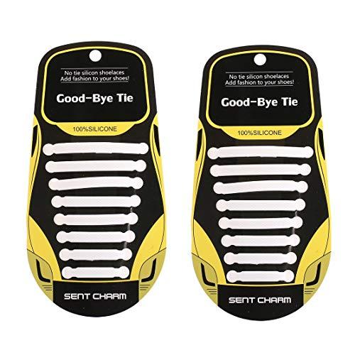 Per Lacci Bianco Lazy Donna Da Elastico Unisex Sneakers T Le 16 stringate Pezzi tipo Shoeslaces Scarpe Silicone Non Morbido XvXPUxw