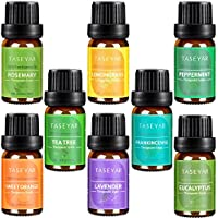 8-Pack TASEYAR Therapeutic Grade 100% Pure Aromatherapy Scented Oil Gift Set