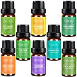 #6: Essential Oils Set of 8,TASEYAR Therapeutic Grade 100% Pure Aromatherapy Scented Oil Gift Set(Frankincense,Lavender,Eucalyptus,Lemongrass,Peppermint,Sweet Orange,Tea Tree,Rosemary),10ml/Each