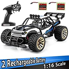 This desert Buggy is a perfect racing car to get your kids started into the RC car hobby! Don't hesitate one more second, hurry and get the Distianert 2WD 1: 16 RTR RC car today! Features: realistic 1: 16 scale desert Buggy design make this f...