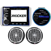 KICKER KMC20 Marine Bluetooth Digital Media Receiver+Rockford Speakers+Remote