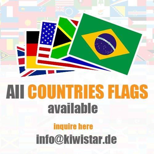 KIWISTAR Aufkleber 4,5 x 3 cm Thailand Land Staat Autoaufkleber Flagge L/änder Wappen Fahne Sticker Kennzeichen