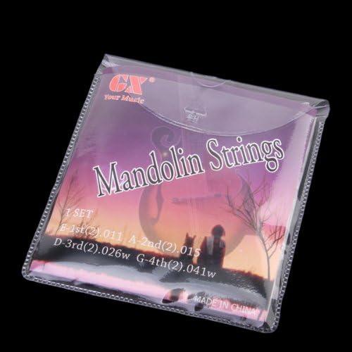 マンドリン アクセサリー用 E-A-D-G ストリング弦