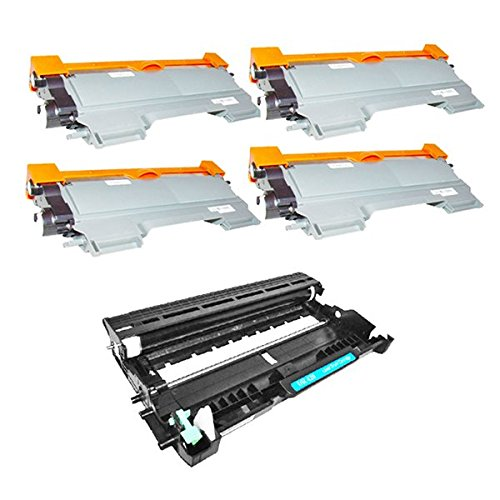 TONER4U® 4TN450+ 1DR420 (4Toner+1Drum Unit) Combo set for Brother DCP-7060D DCP-7065DN HL-2240 HL-2270DW HL-2220 HL-2230 HL-2280DW HL-2130 HL-2132,HL-2240D,HL-2242D,HL-2250DN,IntelliFax-2840