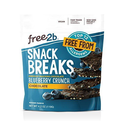 Free2b Foods Chocolate Blueberry Crunch Snack Breaks Gluten-Free, Dairy-Free, Nut-Free and Soy-Free - 4.2 Oz. (Pack of 6) (Sunbutter Bars Crunch)