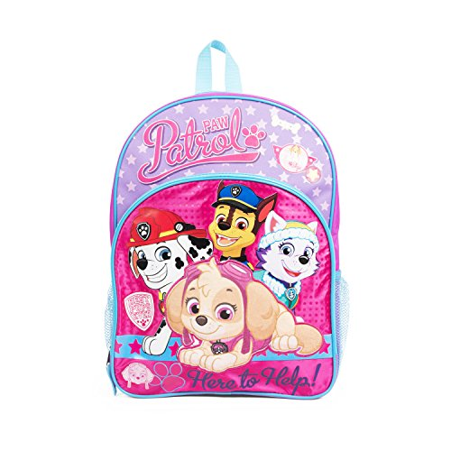 (Nickelodeon Paw Patrol Skye & Friends Pink Backpack School Bag for Girls)