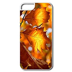 IPhone 5/5S Cases, Autumn Foliage White Cases For IPhone 5