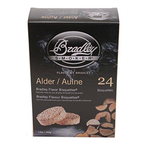 24 Alder Bisquettes Smoker, 24-Pack (Bradley Smoker Alder Bisquettes)