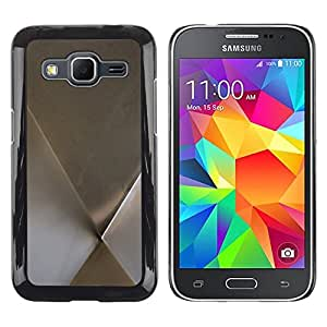 LECELL--Funda protectora / Cubierta / Piel For Samsung Galaxy Core Prime SM-G360 -- Metal Minimalist Silver Pattern --