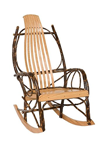 (Peaceful Classics Amish Made Hickory Rocker - Solid Wood)