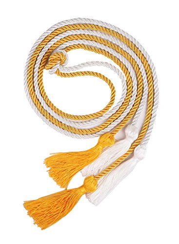 Review Double Graduation Honor Cords - White and Gold,68 Long