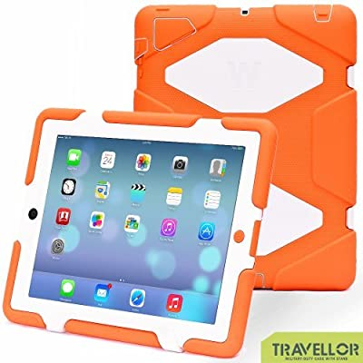iPad case, TRAVELLOR [Earthquake Series] superior protection shockproof and dustproof anti-rain for iPad2 / iPad3 / iPad4.