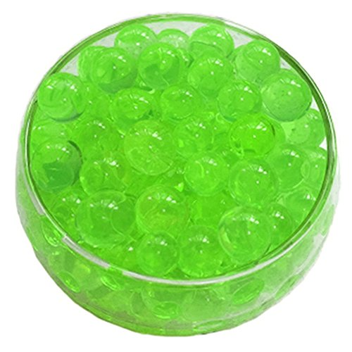 LEFV™ Vase Filler Reuseable Water Beads Pearls Gel Balls Centerpiece Wedding Tower Decoration 500pcs(Green) (Gel Garden Rose Candle)