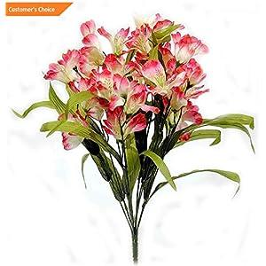 Hebel Artificial Alstroemeria Flower Bush Floral Wedding Home Pink or Purple 21 L | Model ARTFCL - 935 | 3