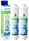 2x AquaHouse UIFUS Universal In-line Undersink Water Filter Cartridges for under sink water filter systems with 1/4' water pipe