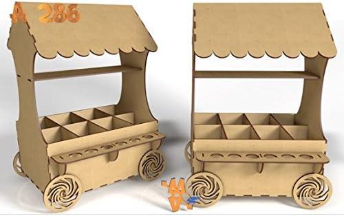 Kit para hacer carrito de chuches de madera DM para candy bar mesa ...