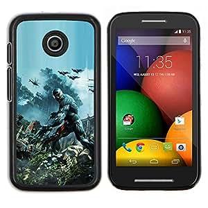TECHCASE---Cubierta de la caja de protección para la piel dura ** Motorola Moto E ( 1st Generation ) ** --Crisis Futuro Guerra Soldado