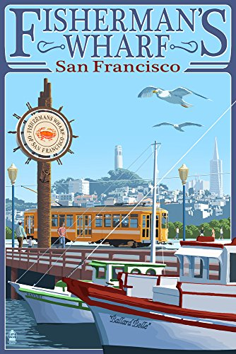 San Francisco, California - Fisherman's Wharf (9x12 Art Print, Wall Decor Travel (Anderson Art Print)