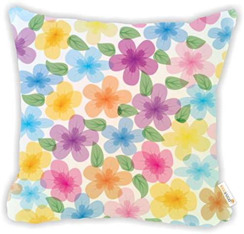(Rikki Knight Absract Colorful Floral Pattern Microfiber Throw Décor Pillow Cushion 16