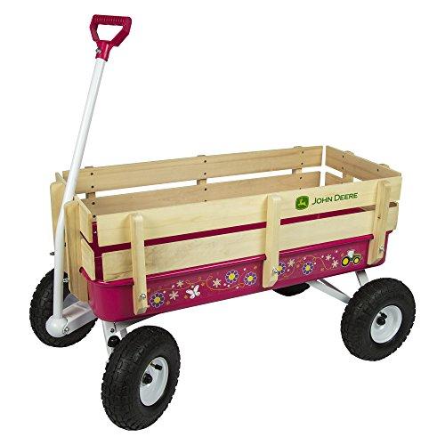TOMY John Deere Steel Stake Wagon, Dark Pink, One Size (Kids John Deere Wagon)