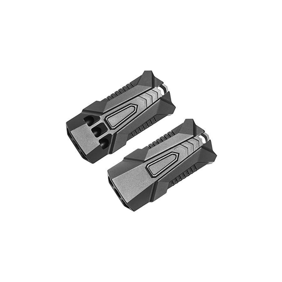 WINGOO Emergency Whistle with Integrated Aviation Aluminum Three Tubes High Decibel EDC Outdoor Lifesaving Whistle